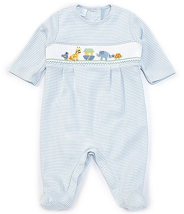 Image of Edgehill Collection Baby Boys 3-9 Months Long-Sleeve Noah's Ark Footed Coverall