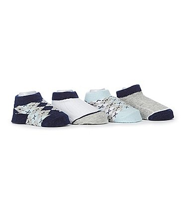 Image of Edgehill Collection Baby Boys 4-Pack Argyle Socks