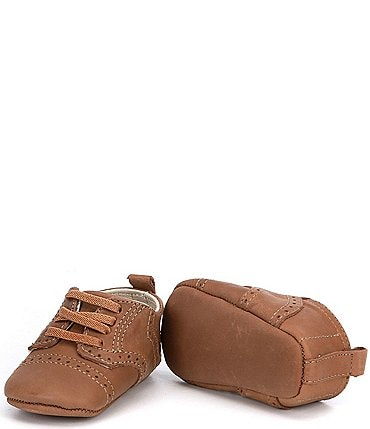 Image of Edgehill Collection Baby Boys' Derby Leather Crib Shoes