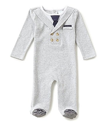 Image of Edgehill Collection Baby Boys Newborn-6 Months Long-Sleeve Footed Coverall