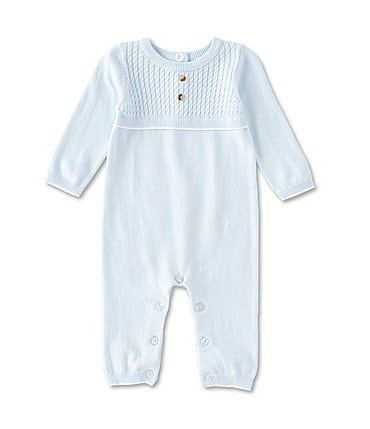 Image of Edgehill Collection Baby Boys Newborn-6 Months Long-Sleeve Sweater Coverall