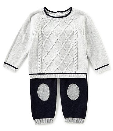 Image of Edgehill Collection Baby Boys Newborn-6 Months Long Sleeve Sweater Top & Pants Set