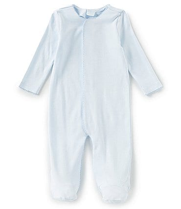 Image of Edgehill Collection Baby Boys Preemie-9 Months Supima Footed Coverall
