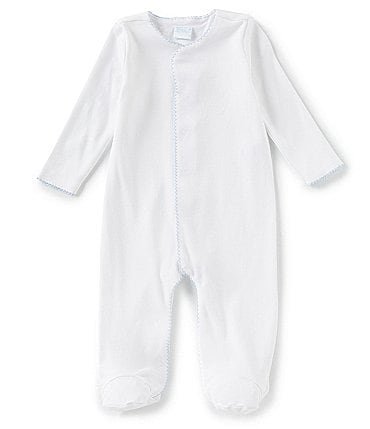 Image of Edgehill Collection Supima Cotton Baby Boys Preemie-9 Months Supima Footed Coverall