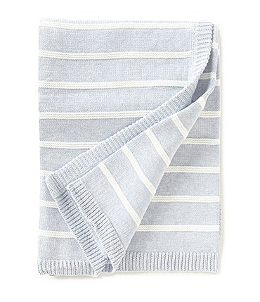 Image of Edgehill Collection Baby Boys Striped Blanket