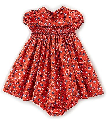 Image of Edgehill Collection Baby Girls 3-24 Months Smocked Dress