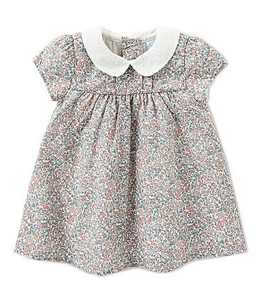Image of Edgehill Collection Baby Girls Newborn-24 Months Made With Liberty Fabrics Dress