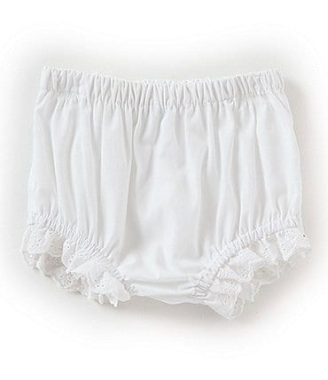 Image of Edgehill Collection Baby Girls Newborn-24 Months Lace Detail Panty Cover
