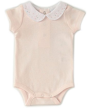 Image of Edgehill Collection Baby Girls Newborn-6 Months Embellished Collar Bodysuit
