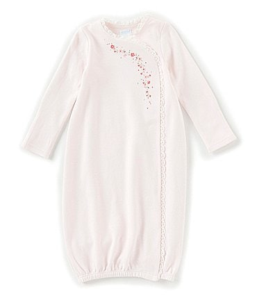 Image of Edgehill Collection Baby Girls Newborn-6 Months Floral-Embroidered Gown