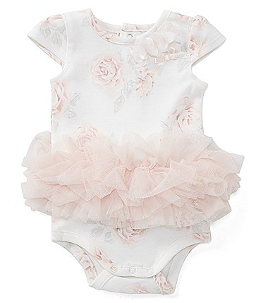 Image of Edgehill Collection Baby Girls Newborn-6 Months Floral Tutu Bodysuit