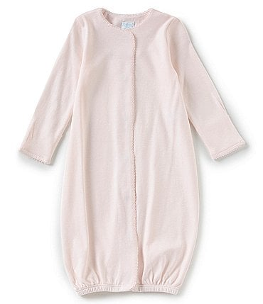 Image of Edgehill Collection Supima Cotton Baby Girls Newborn-6 Months Supima Gown