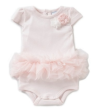 Image of Edgehill Collection Baby Girls Newborn-6 Months Rosette Bodysuit