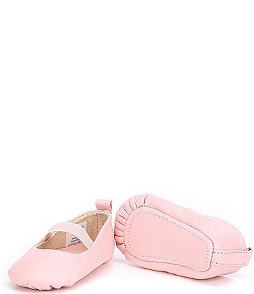 Image of Edgehill Collection Baby Girls' Soft-Sole Leather Crib Shoes