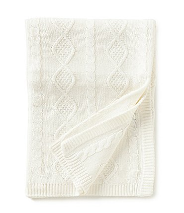 Image of Edgehill Collection Cable-Knit Baby Blanket