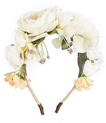 Image of Edgehill Collection Girls Flower Wreath Headband