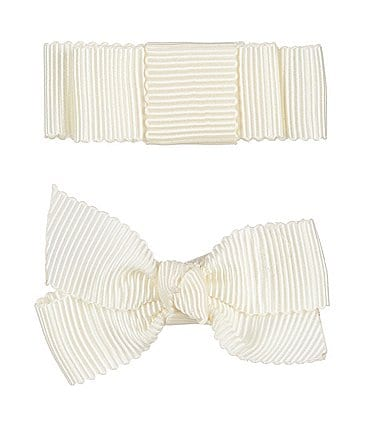Image of Edgehill Collection Little Girls 2-Pack Petersham Grosgrain Bows