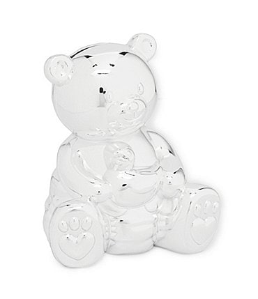 Image of Edgehill Collection Silver Bear Money Bank
