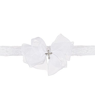 Image of Elegant Baby Baby Girls Christening Lace Headband