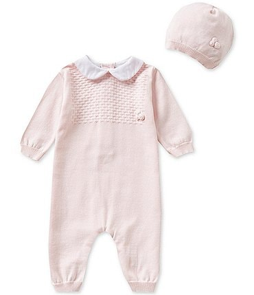 Image of Feltman Brothers Baby Girls Newborn-9 Months Knit Coverall and Hat Set