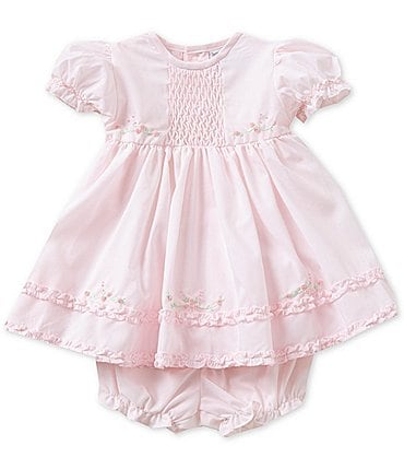 Image of Friedknit Creations Baby Girls Newborn-9 Months Ruffle Dress
