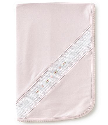 Image of Feltman Brothers Baby Girls Newborn Smock Embroidered Blanket