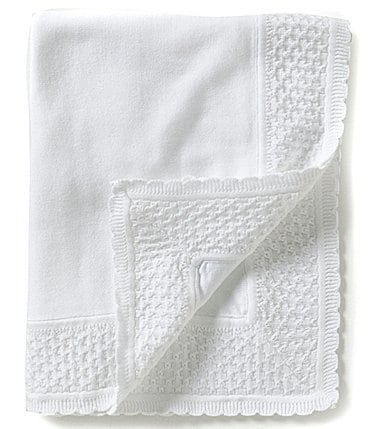 Image of Feltman Brothers Baby Knit Diamond-Pattern Blanket