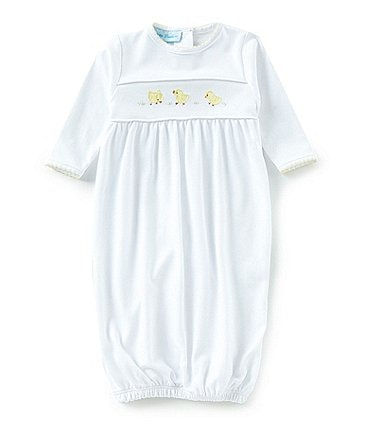 Image of Feltman Brothers Baby Newborn Chick Embroidered Gown