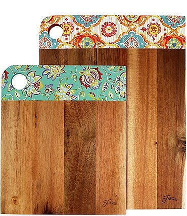 Image of Fiesta 2-Piece Acacia Wood Cutting Board Set