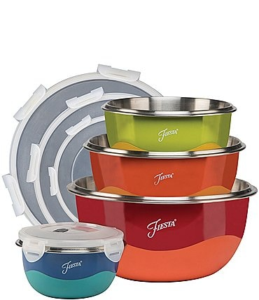 Image of Fiesta 8-Piece Mixing Bowl & Lid Set
