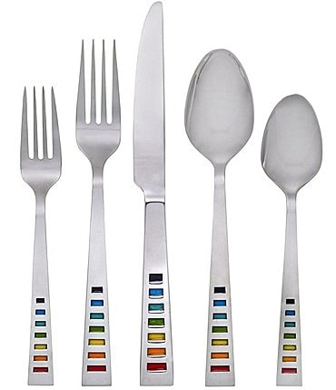 Image of Fiesta Celebration Rainbow 20-Piece Stainless Steel Flatware Set