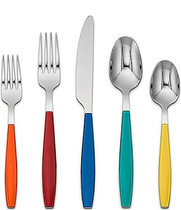 Image of Fiesta Jamboree 20-Piece Stainless Steel Flatware Set