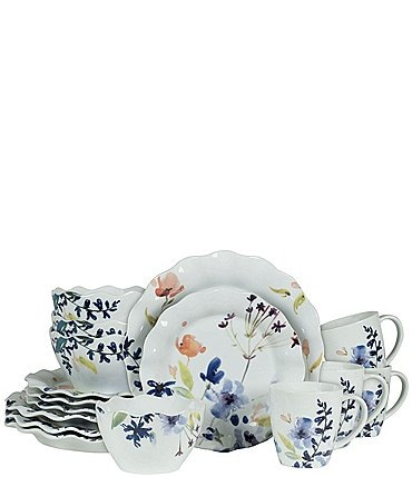 Image of Fitz And Floyd Floral Splash 16-piece Place Setting