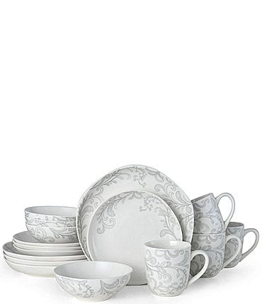 Image of Fitz And Floyd Organic Curves Maddi 16-Piece Place Setting