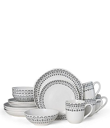Image of Fitz And Floyd Organic Curves Maric 16-Piece Place Setting