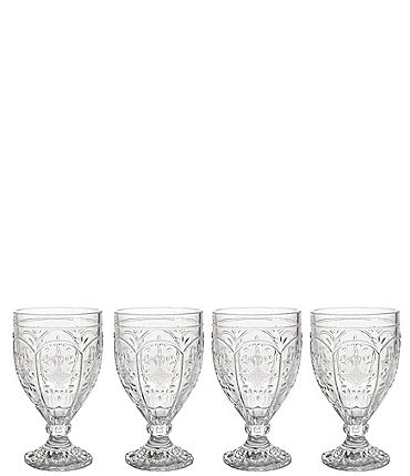 Image of Fitz and Floyd Trestle Clear Goblets, Set of 4