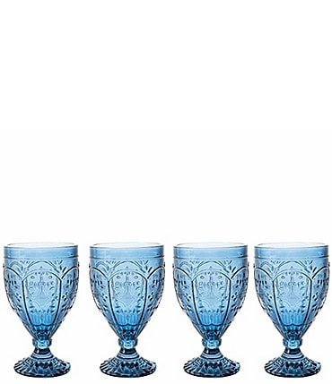 Image of Fitz and Floyd Trestle Indigo Goblets, Set of 4