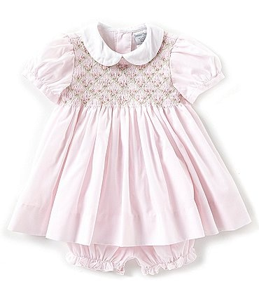 Image of Friedknit Creations Baby Girls 3-9 Months Floral Printed Smocked Dress
