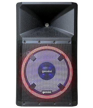 Image of gemini High Power Bluetooth Party Speaker with Party Lights, Microphone, and Speaker Stand