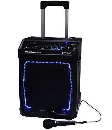 Image of gemini Portable Rechargeable Bluetooth Speaker with Lights
