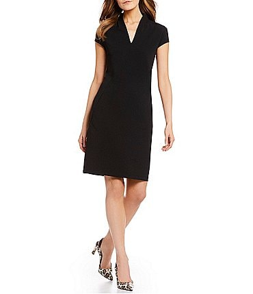 Image of Gibson & Latimer Shawl V-Neck Sheath Dress