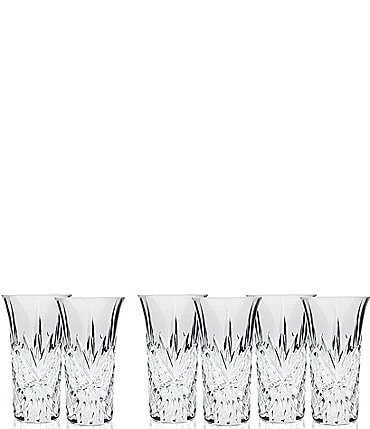 Image of Godinger Dublin Handcrafted Crystal Vodka Shooters, Set of 6