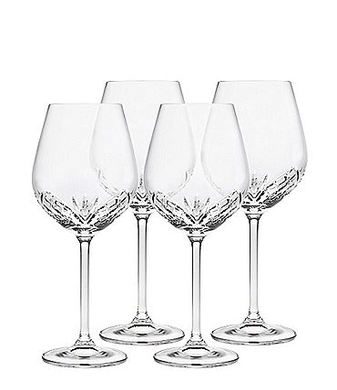 Image of Godinger Dublin Reserve Crystal Wine Glasses, Set of 4