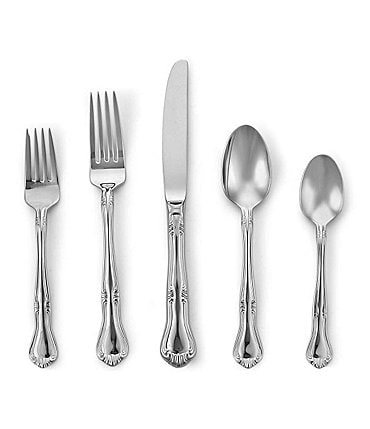 Image of Gorham Design Studio Valcourt Stainless Steel 5-Piece Place Setting