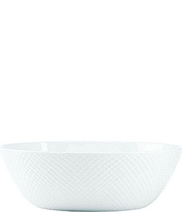 Image of Gorham Woodbury Embossed Bone China Oval Vegetable Bowl
