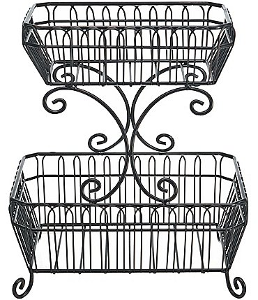 Image of Gourmet Basics by Mikasa French Countryside 2-Tier Fruit Storage Basket