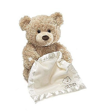 "Image of Gund ""Peek-a-Boo"" Bear with Blanket"