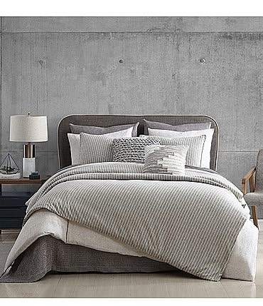 Image of H Halston Clayton Stripe Comforter Mini Set