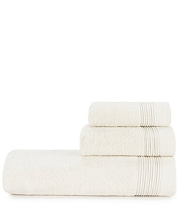 Image of H Halston Ribbed Pinstripe Bath Towels