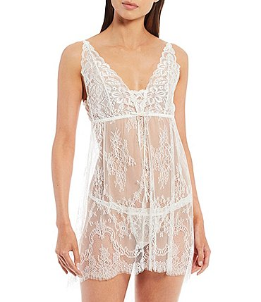 Image of Hanky Panky Victoria Lace Chemise with G-String